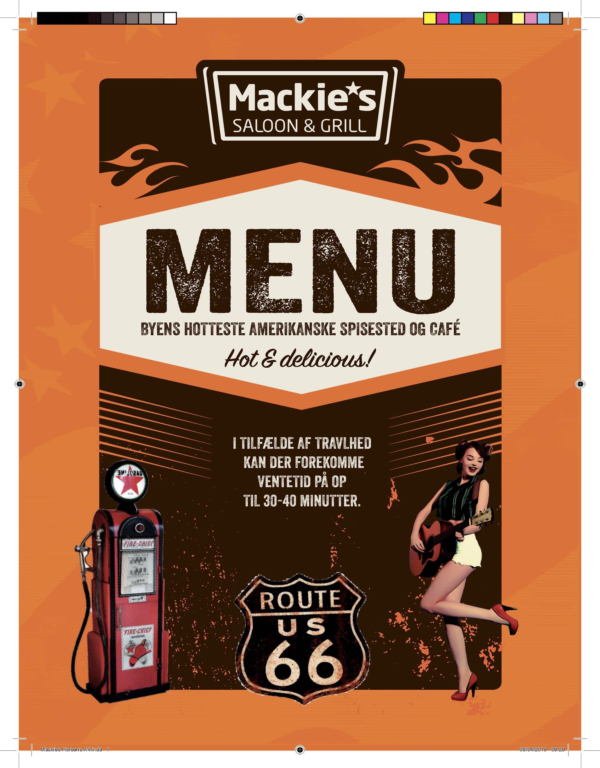 Menu Mackie's
